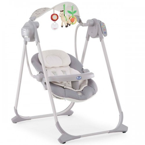 Кресло-качалка детское Chicco Polly Swing Up - silver
