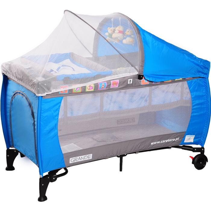 Манеж-кровать Caretero Grande Blue
